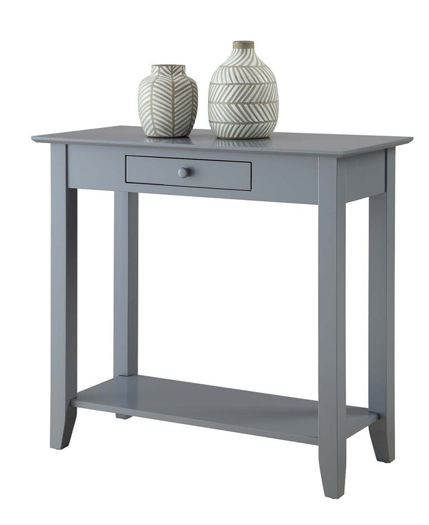Convenience Concepts American Heritage Hall Table with Drawer and Shelf  474