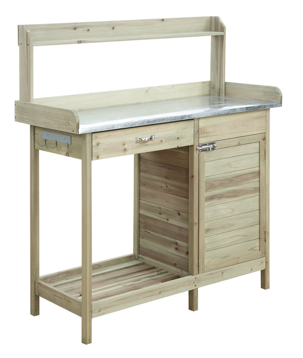 Convenience Concepts Deluxe Potting Bench with Cabinet 1177