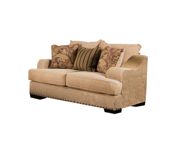 Furniture of America Jessica Contemporary Loveseat in Tan