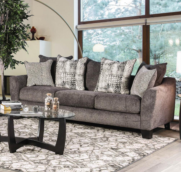 Furniture of America Apolo Contemporary Sofa in Gray