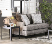 Furniture of America Peri Contemporary Loveseat in Gray