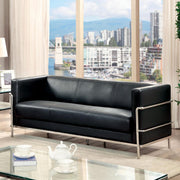 Furniture of America Ambrose Contemporary Sofa in Black