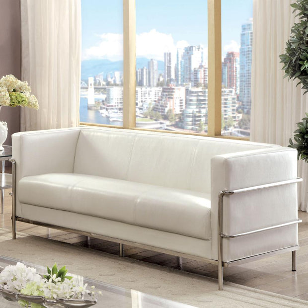 Furniture of America Ambrose Contemporary Sofa in White