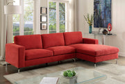 Furniture of America Callo Contemporary Padded Flannelette Chaise Sectional Sofa