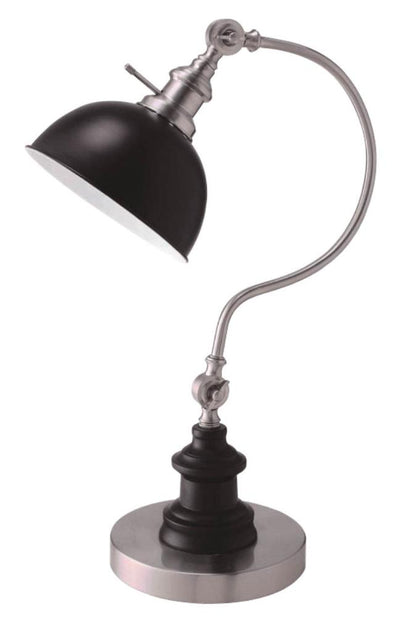 Furniture of America Julien Modern Style Lamp, Silver/ Black