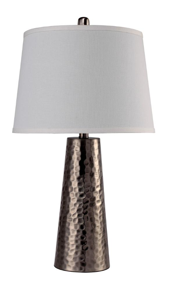 Furniture of America Crew Contemporary Style Lamp, Antique Silver
