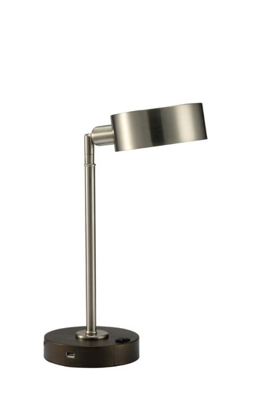 Furniture of America Elson Modern Style Lamp, Brushed Steel