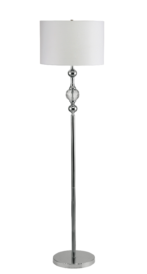 Furniture of America Abshire Transitional Style Floor Lamp, White