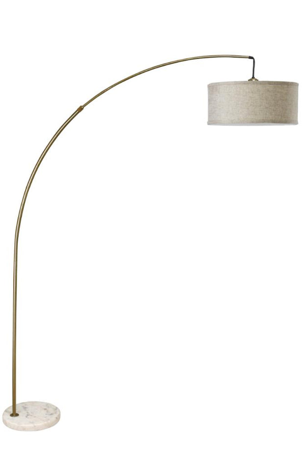 Furniture of America Normand Mid-Century Style Floor Lamp, Antique Brass