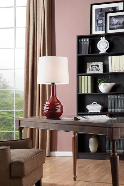 Furniture of America Kilby Contemporary Style Lamp, Red