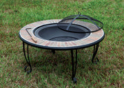 Furniture of America Drea Contemporary Style Outdoor Fire Pit with Spark Guard