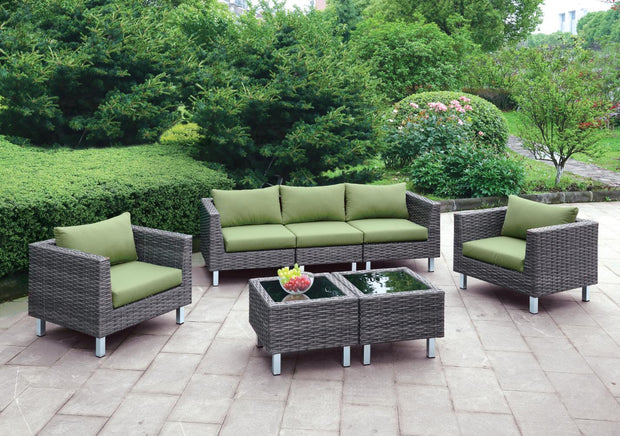 Furniture of America Virri Contemporary Style Outdoor Patio 5PC Outdoor Patio Lounge Set