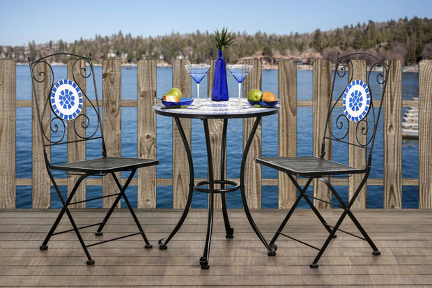 Furniture of America Soria Contemporary Style Outdoor Patio 3PC Lounge Set