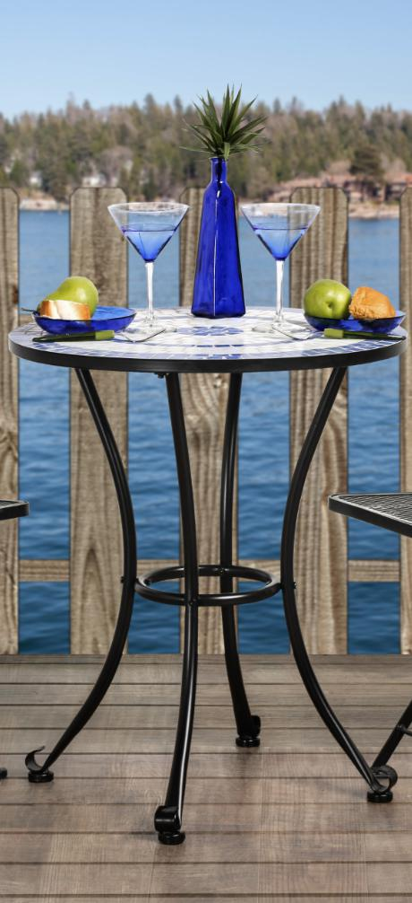 Furniture of America Soria Contemporary Style Outdoor Patio Table