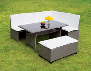 Furniture of America Salice Contemporary Style Outdoor Patio 3PC Dining Set