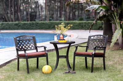 Furniture of America Volerro Transitional Style Outdoor Patio Round Table