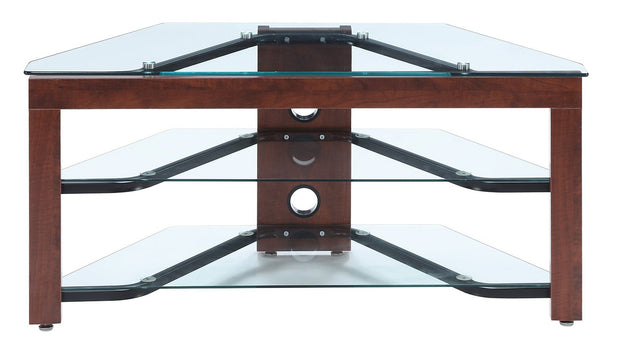 Convenience Concepts Designs2Go Classic Glass Wood and Glass TV Stand 386