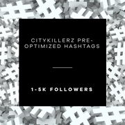 CityKillerz 1-5k Hashtag Lists + E-Guide