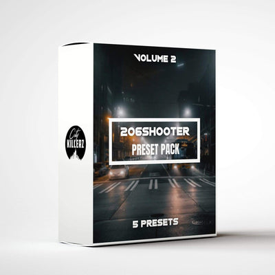 206shooter Vol. 2 Lightroom Preset Pack - 5 Presets.