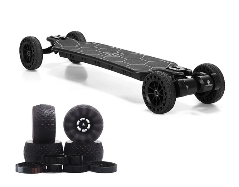 "Ownboard Bamboo AT + GT (39"") 3000W All Terrain Electric Skateboard Dual Belt Motor"