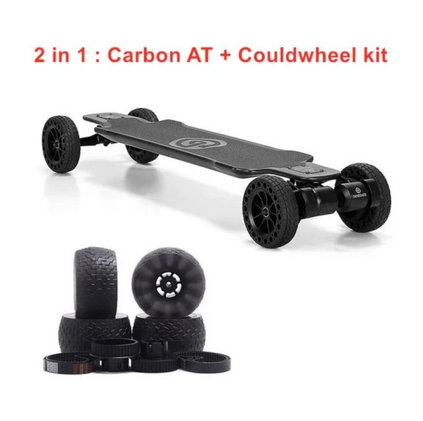"Ownboard Carbon AT 3000W 40"" All Terrain Electric Skateboard with Dual Belt Motor 14AH battery Carbon Fibre"