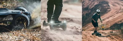 The Exway Atlas Carbon 2WD and 4WD All Terrain Electric Skateboard