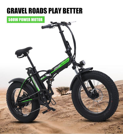 Weekend promo - Sheng milo MX20 Electric Folding Bicycle 500W 4.0 Fat Tire 48v 15AH Lithium Battery