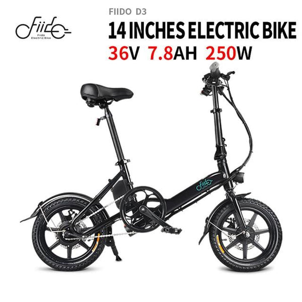 "#1 14"" Folding Electric Bike - Original FIIDO D3 Folding Electric Bicycle E-Bike 7.8Ah 25km/h 40 km mileage 17.5kg"