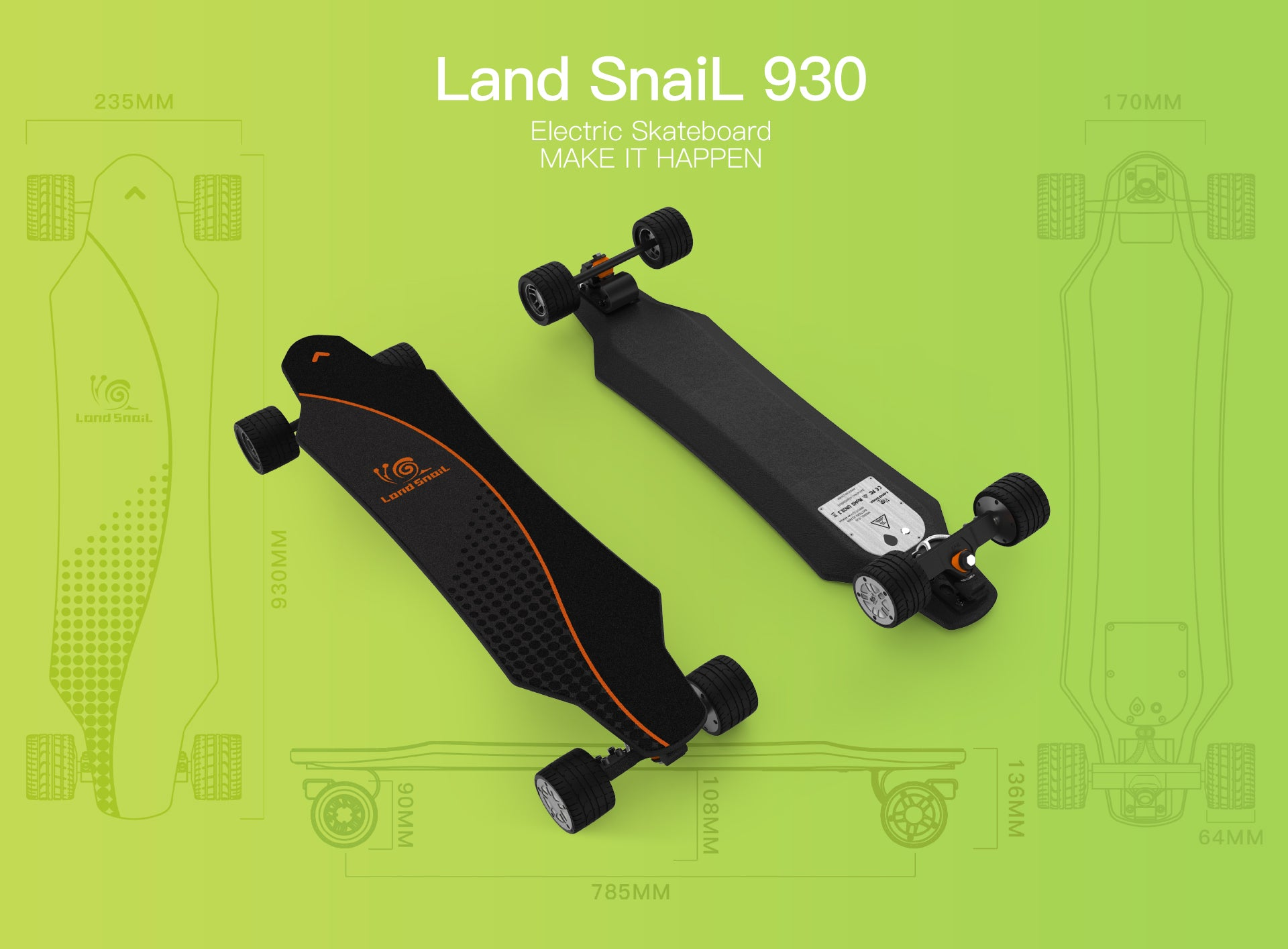 BrotherHobby Land SnaiL 930 Electric Skateboard - eRider.com.au