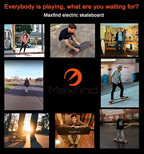 Maxfind 4 Series - Four Wheel Electric Longboard Skateboard Max 4 Single Motor Wireless Remote Controller