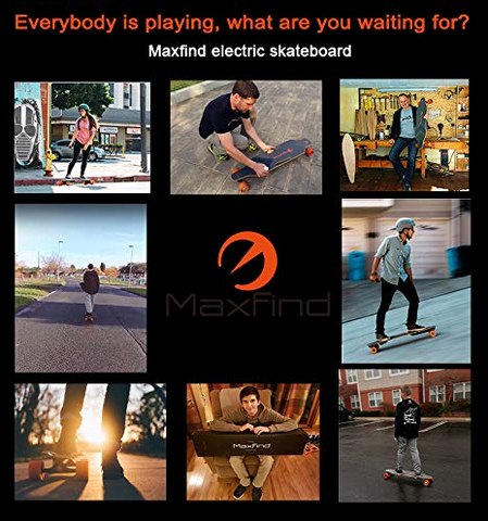 Maxfind Electric Skateboard 4th Generation Max 2,1000W Single Motor with Wireless Remote Controller