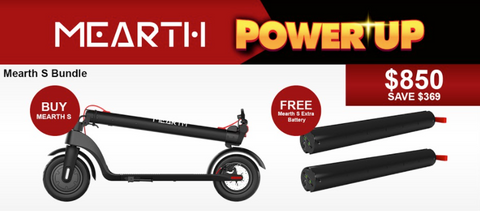 Mearth S and Mearth S Battery Bundle Electric Scooter | eRider.com.au