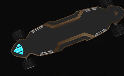ZETAZS Trident Pro Electric Skateboard With CNC Ultra Precision Truck & 90MM + 100MM Off Road Tires - eRider.com.au