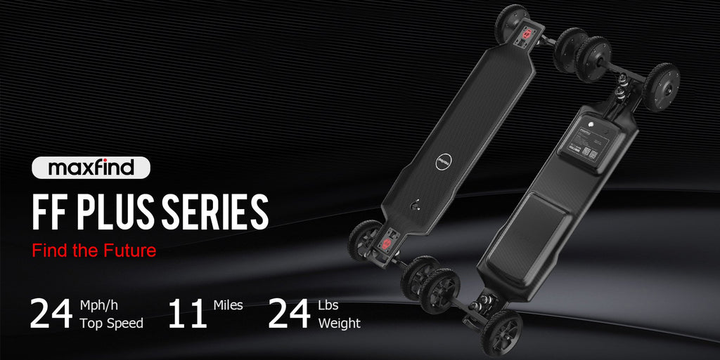 Maxfind FF Plus Series - All Terrain Electric Longboard 2400W Super Flex Strong Deck - eRider.com.au