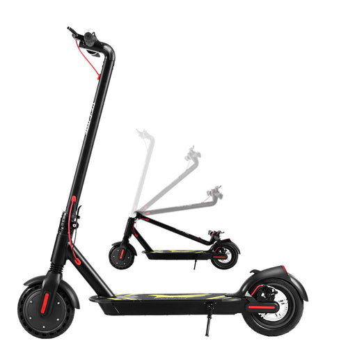 Electric Scooter Compact Portable Foldable Commuter + LED Light White / Black - eRider