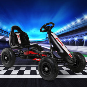 RIGO Kids Pedal Go Kart Car Ride On Toys Racing Bike Black - eRider.com.au