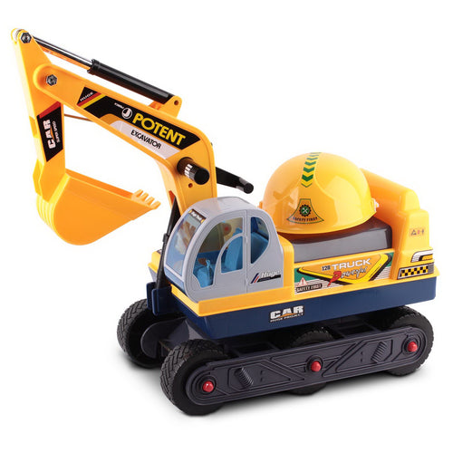 Keezi Kids Ride On Non Motorised Excavator - Yellow - eRider.com.au