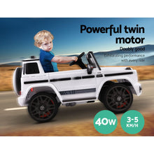 Load image into Gallery viewer, Kids Ride On Electric Car Mercedes-Benz AMG G63 Licensed White - eRider.com.au