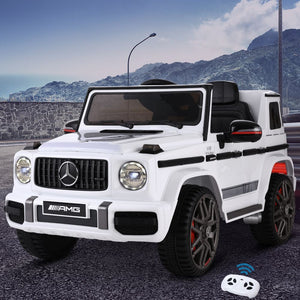 Kids Ride On Electric Car Mercedes-Benz AMG G63 Licensed White - eRider.com.au
