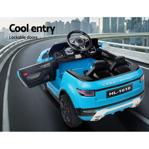 Rigo Kids Ride On Car Range Rover Evoque Blue - eRider