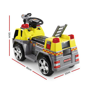 Fire Truck Electric Car - Yellow - eRider