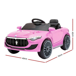 Maserati S Electric Car Kids - Pink - eRider