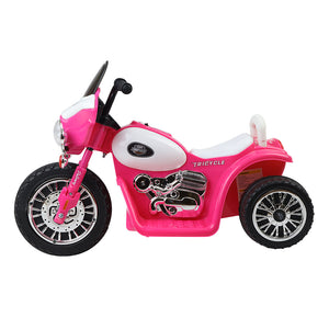Rigo Kids Ride On Police Motorbike Motorcycle Toys Pink - eRider