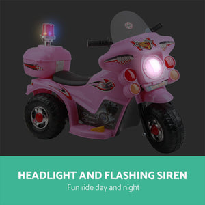 Rigo Kids Ride On Motorbike Motorcycle Car Pink - eRider