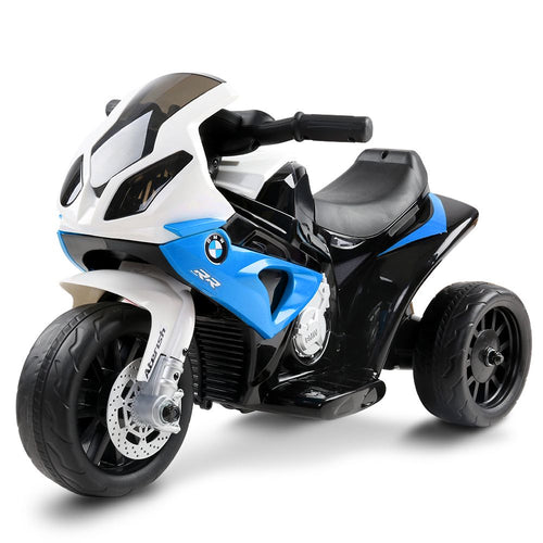 Kids Ride On Electric Motorbike BMW Licensed S1000RR Motorcycle Blue - eRider.com.au