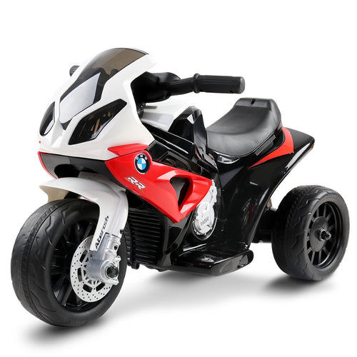 Kids Ride On Electric Motorbike BMW Licensed S1000RR Motorcycle Red - eRider.com.au