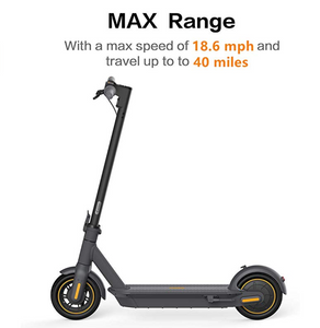 Original Segway Ninebot MAX G30 KickScooter 10inch foldable 65km Max Mileage Dual Brake Skateboard With APP - eRider