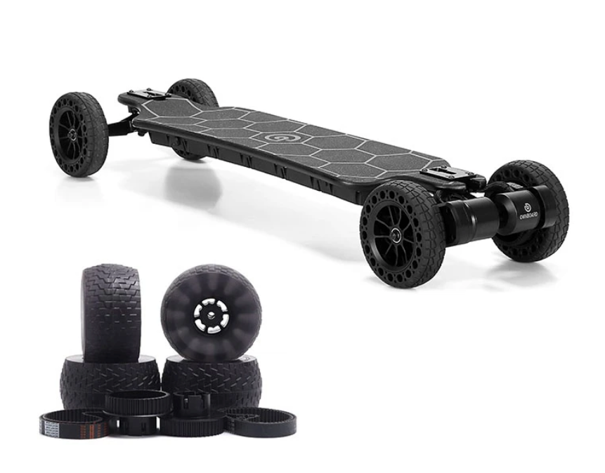 "Ownboard Bamboo AT (39"") 3000W All Terrain Electric Skateboard Dual Belt Motor - eRider"