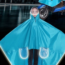 Load image into Gallery viewer, Durable Thicken Waterproof Oxford Fabric Bike Motorcycle Electric Bike Raincoat Poncho Raincape for Adult Size XXXL (Lake Blue) - eRider