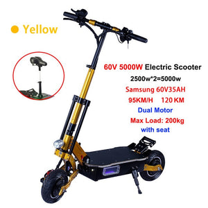 JueShuai (JS) 5000W Powerful Foldable Electric Scooter Off Road Skateboard High Speed 95km/h - eRider.com.au